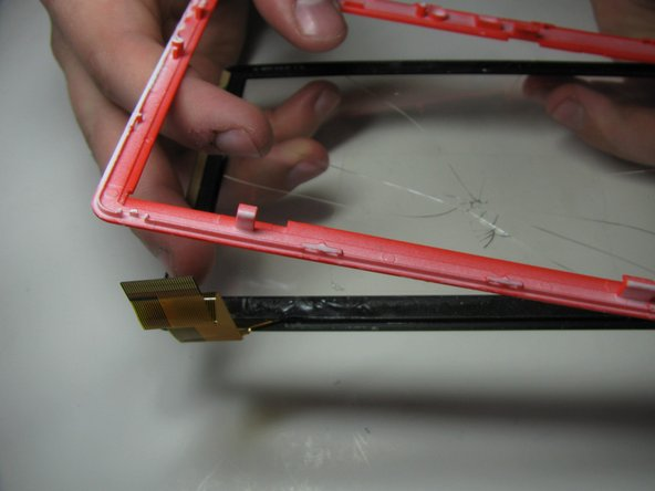 In order to remove the digitizer simply push it out of the casing.