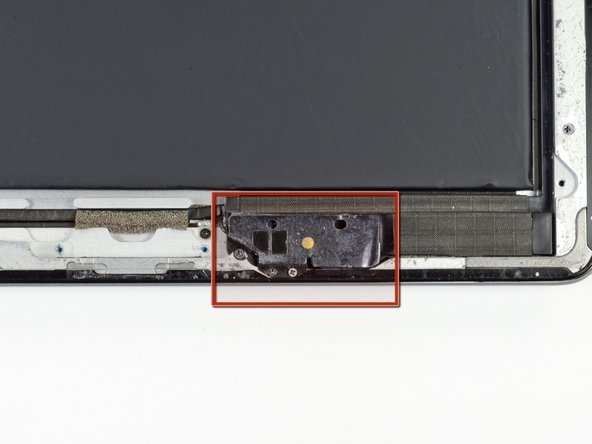 Image 1/1: The Wi-Fi antenna is attached to the bottom right edge of the rear case of the iPad via screws and a cable. Because of the orientation of the Wi-Fi antenna, it is imperative to proceed with caution otherwise irreversible damage to the Wi-Fi antenna may result.
