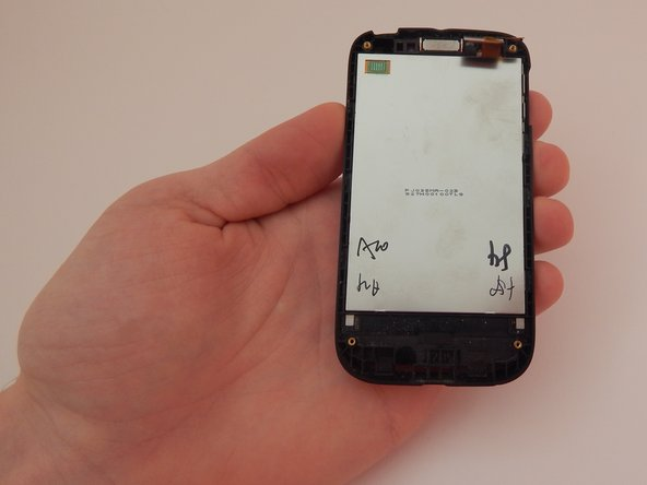 Image 1/3: Slowly rotate the phone so the screen falls into your right hand.