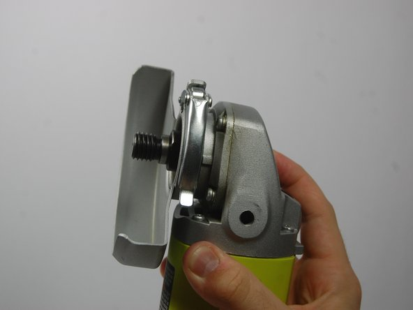 Image 2/2: The disc flange has two small raised edges on its back side. These ridges need to be aligned with the two flat faces at the back of the spindle lock when reassembled. This will ensure a safe, snug fit for your grinding blades.