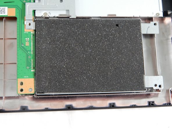 The Hard Drive is located in the bottom right hand corner. It should be the device covered in black foam.