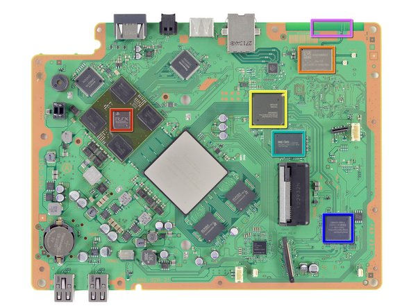 Some of the more…Cartesian ICs on the top of the motherboard: