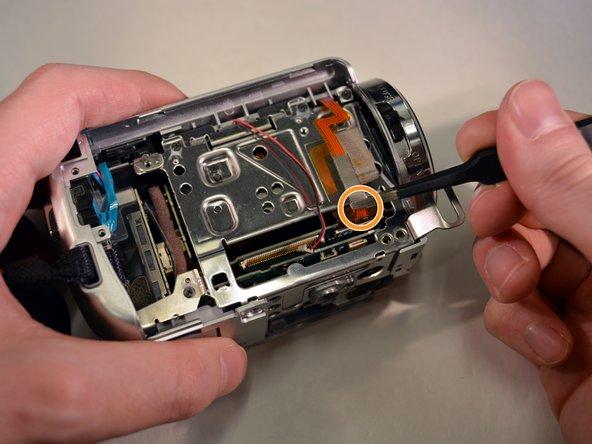 Unplug the small ribbon wire.