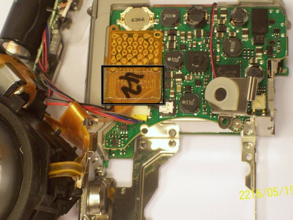 Next you can remove the film by lifting it gently from the motherboard.