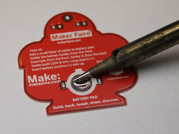 learn to solder electronics with the maker shed solder badge ifixit. Black Bedroom Furniture Sets. Home Design Ideas
