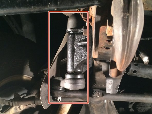 Image 3/3: It can be found underneath the vehicle, next to the front passenger tire bolted onto the frame.