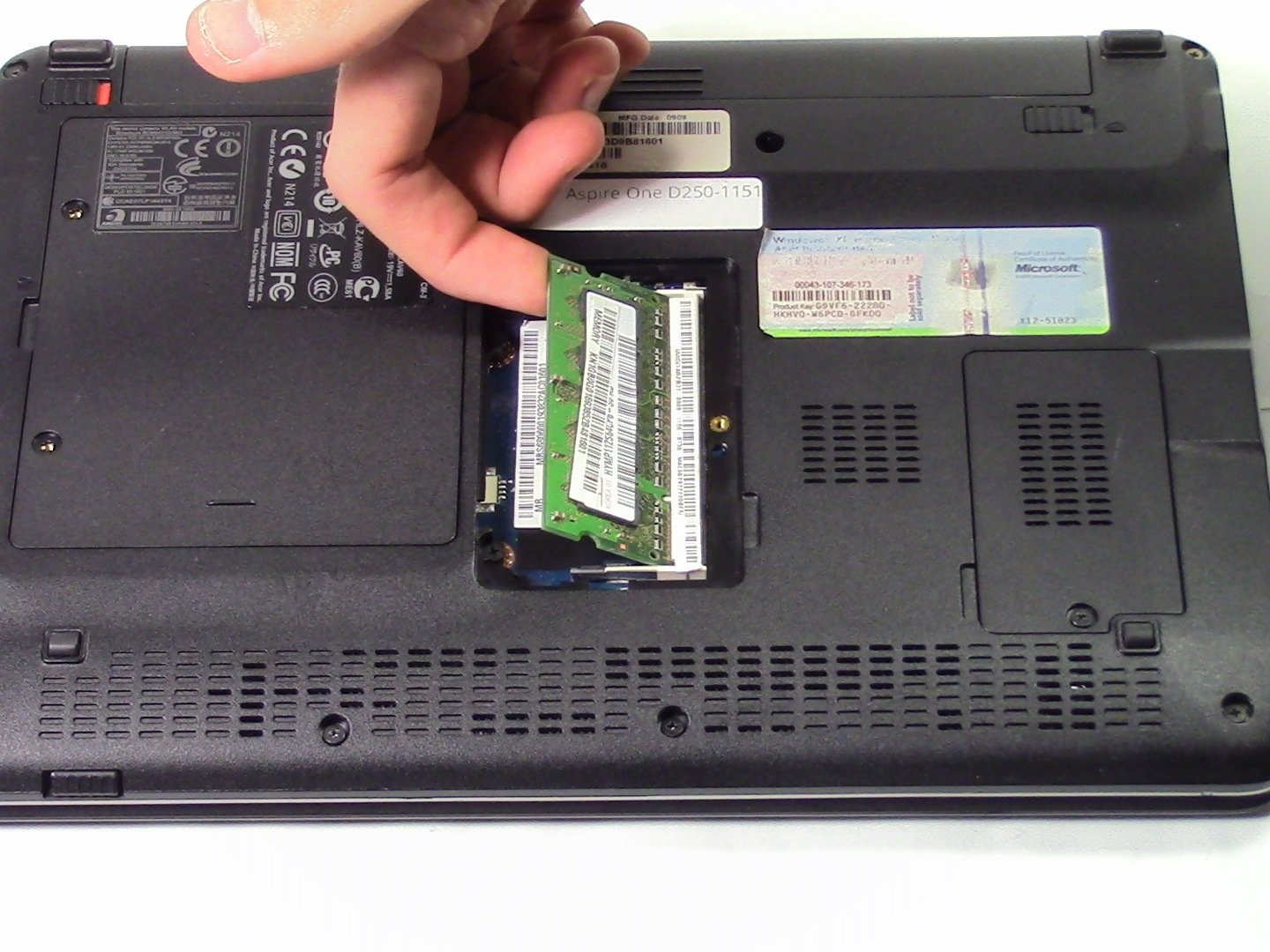Acer Aspire One D250-1151 Ram Replacement