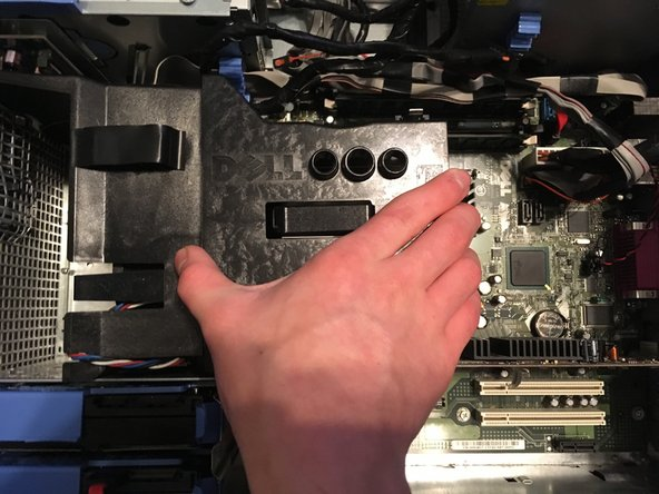 Pull the heat sink up.