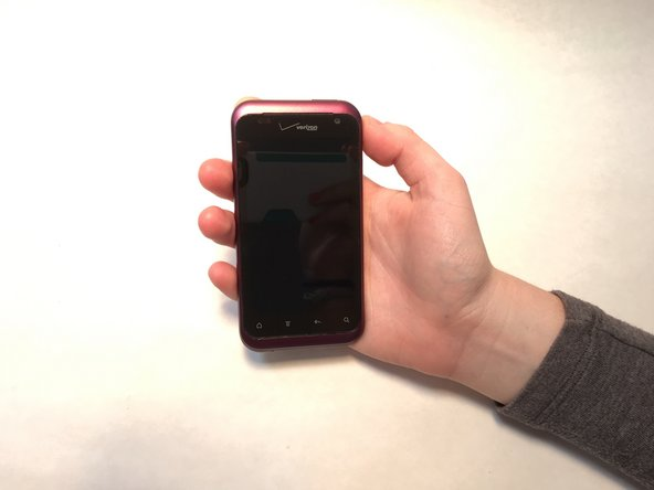 This is the front and back of the HTC Rhyme