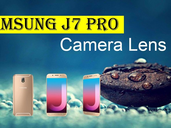 Samsung J7 Pro Camera Lens Cover Replacement