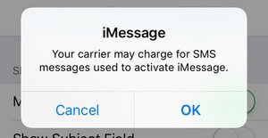 SOLVED: Your carrier may charge for SMS messages used to