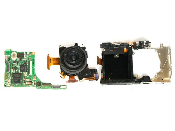 Your lens has been removed from the motherboard and bottom framing.