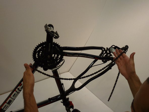 Once the chain is separated, remove it from the bike by pulling one end.
