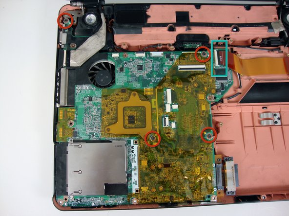 Image 1/1: Disconnect this ribbon cable.