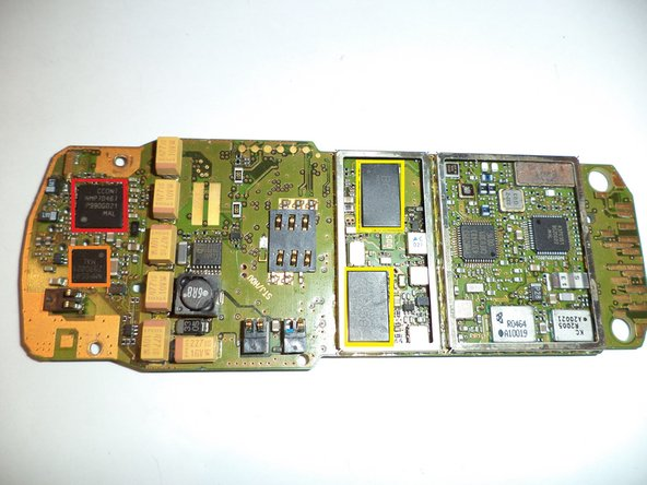 Here's the PCB with removed EMI shields.