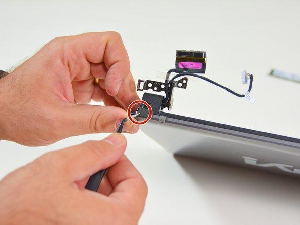Image 1/3: Danach lösen Sie die Schraube am rechten Scharniergelenk.
