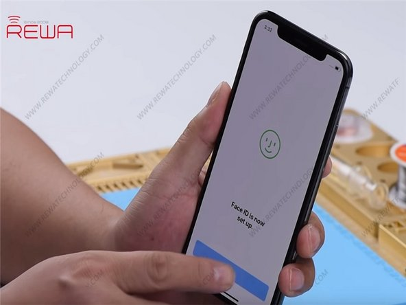 Go to Settings > Face ID & Passcode > Reset Face ID. Face ID can be setup successfully