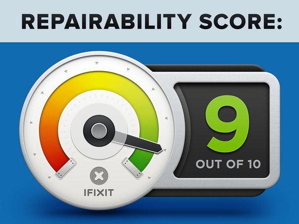 HP Elite x2 1013 G3 Repairability Score: 9 out of 10 (10 is the easiest to repair):