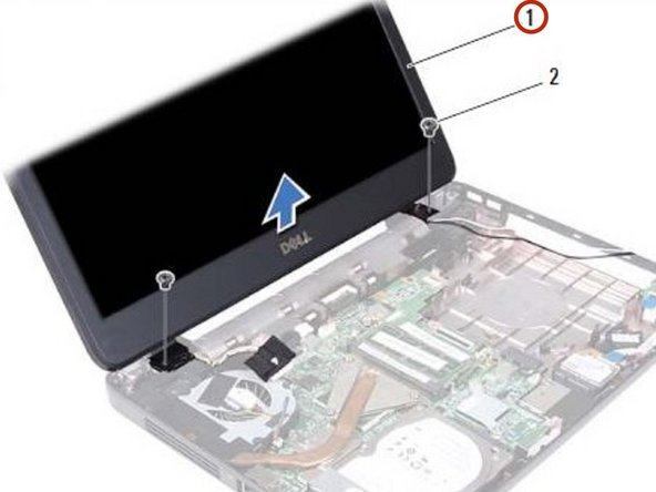 Lift and remove the display assembly out of the computer base.