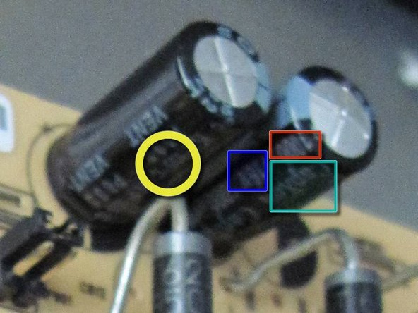 Identifying bad capacitors is fairly simple. Start with a search for images of bad capacitors to see what they look like.
