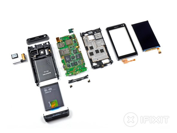 Nokia N8 Repairability: 8 out of 10 (10 is easiest to repair)