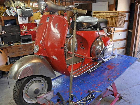 Vespa Large Frame Oil Change