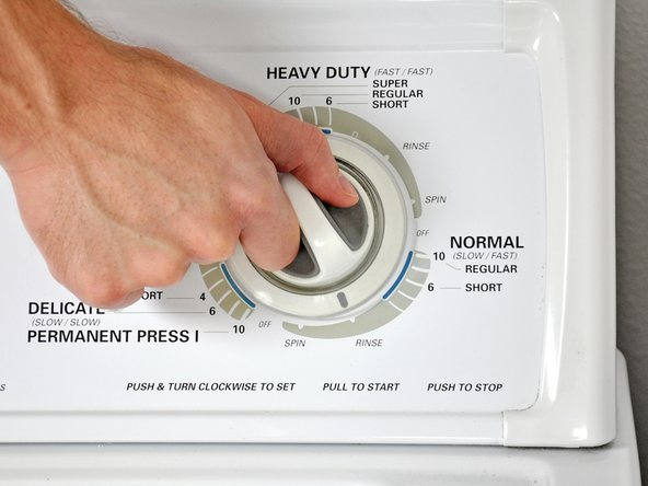 Once the washer has stopped, run the rinse cycle a second time.