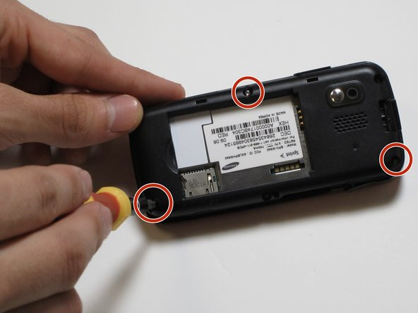 Use a Phillips #00 screwdriver to loosen and remove all 3 screws.