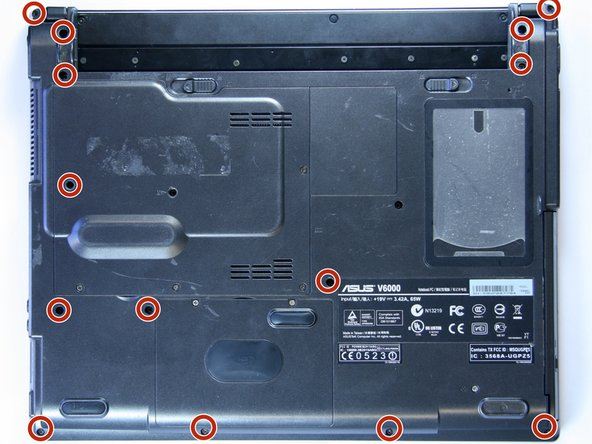 Asus V6800V Lower Case Disassembly