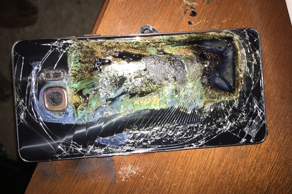 Battery explosion in the Samsung Galaxy Note 7