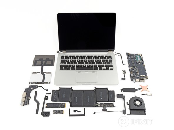 "Image 1/2: MacBook Pro with Retina Display 13"" Late 2013 Repairability Score: '''1 out of 10''' (10 is easiest to repair)"