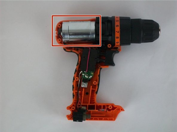 Black and Decker LDX 120C Motor  Replacement