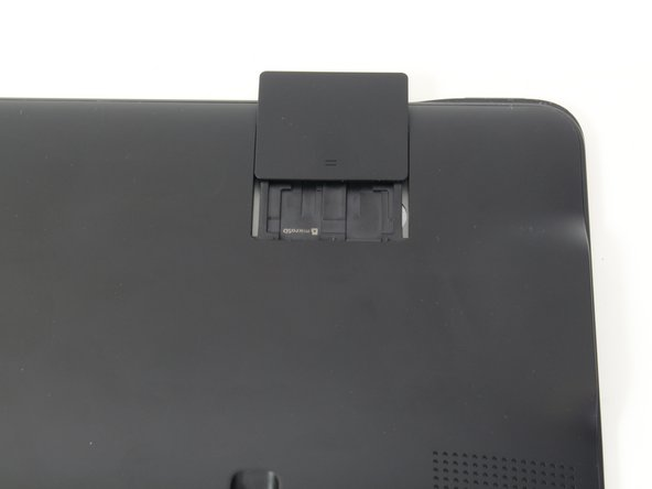 Image 2/2: Slide open the SD compartment tab, and remove the SD card to ensure all data is saved.
