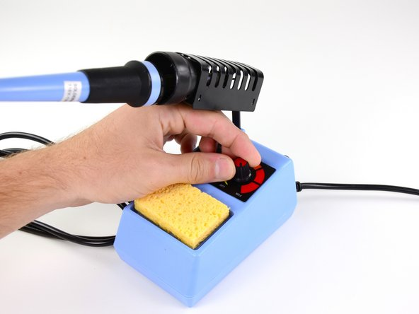 The most important tool for any soldering job? Your soldering iron, of course! For this procedure we'll be using the soldering station that we sell in our parts and tools store.