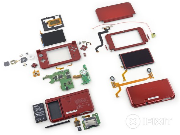 Nintendo 3DS XL 2015 Repairability Score: 5 out of 10 (10 is easiest to repair)
