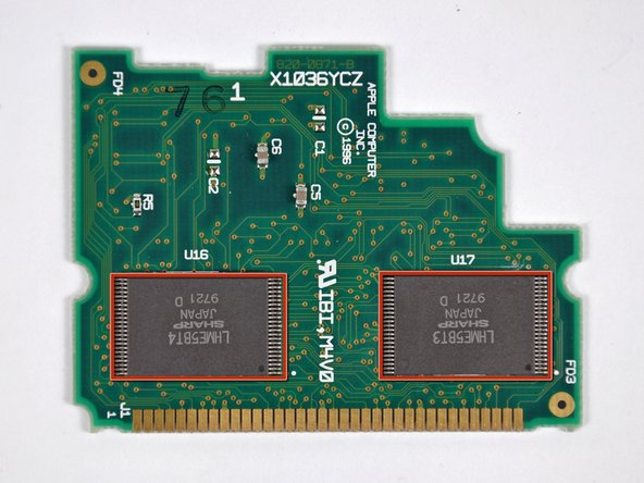 Image 1/2: Two LHME5BT3 Sharp mask ROM chips.