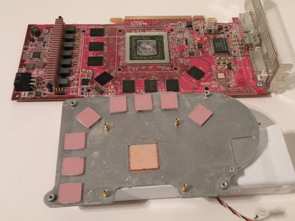 Seperate the heatsink and the card.