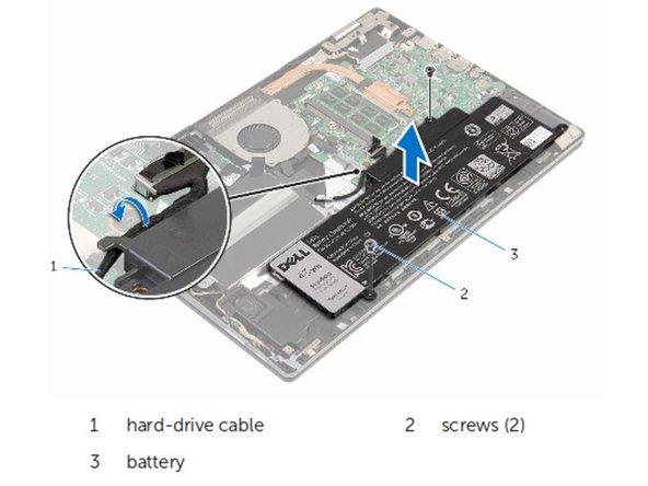 Dell Inspiron 13-7353 Quitar la batería