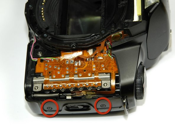 Canon EOS Rebel G Back Panel Latch Replacement