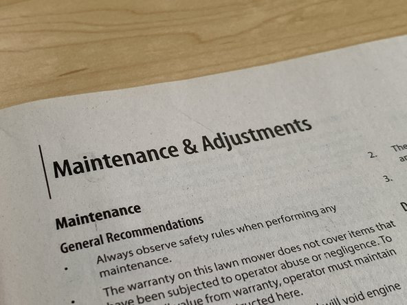maintenance user manual
