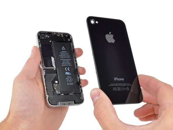 Image 1/1: Pinch the rear panel with your fingers and lift it  away from the iPhone. Alternatively, use a [product|IF145-019|Small Suction Cup] .