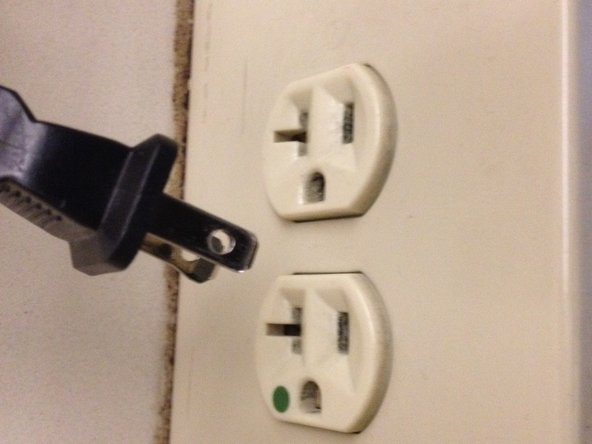 Remove the power cord from the wall socket outlet