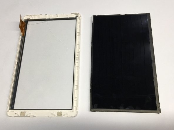 Remove the LCD panel from the device screen.