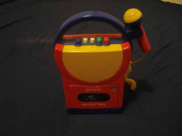 Image 1/3: Here we have a 'my first Sony' cassette player with a microphone