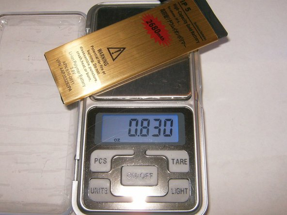 Checking the weight for the Gold battery it was at 0.830oz