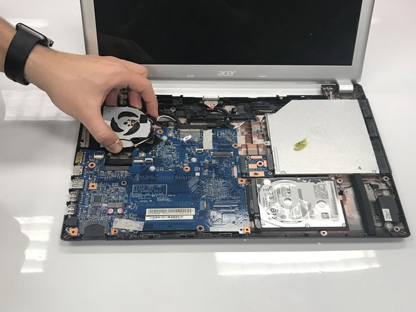 Carefully remove the CPU fan.