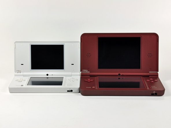 Side by side comparison of the DSi (left) and DSi XL (right).