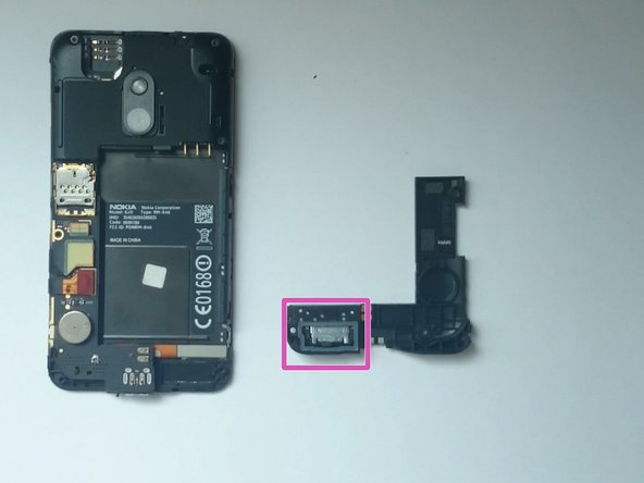 Image 1/2: Touch screen flex cable connector