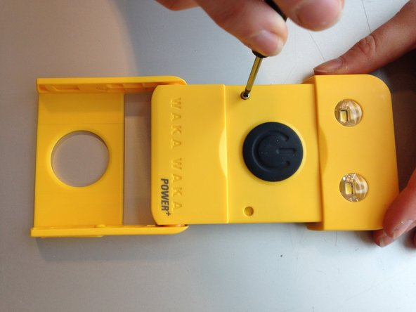 Replace the screws and the yellow plugs. Check if everything is working again.