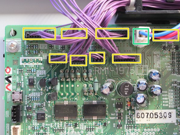 Remove the ribbon cable by pulling directly along the cable.